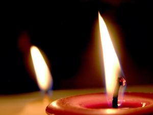 Candle flames